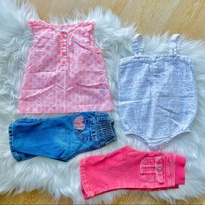 3/$30 CARTERS / OLD NAVY / AIDEN + ANAIS girls set